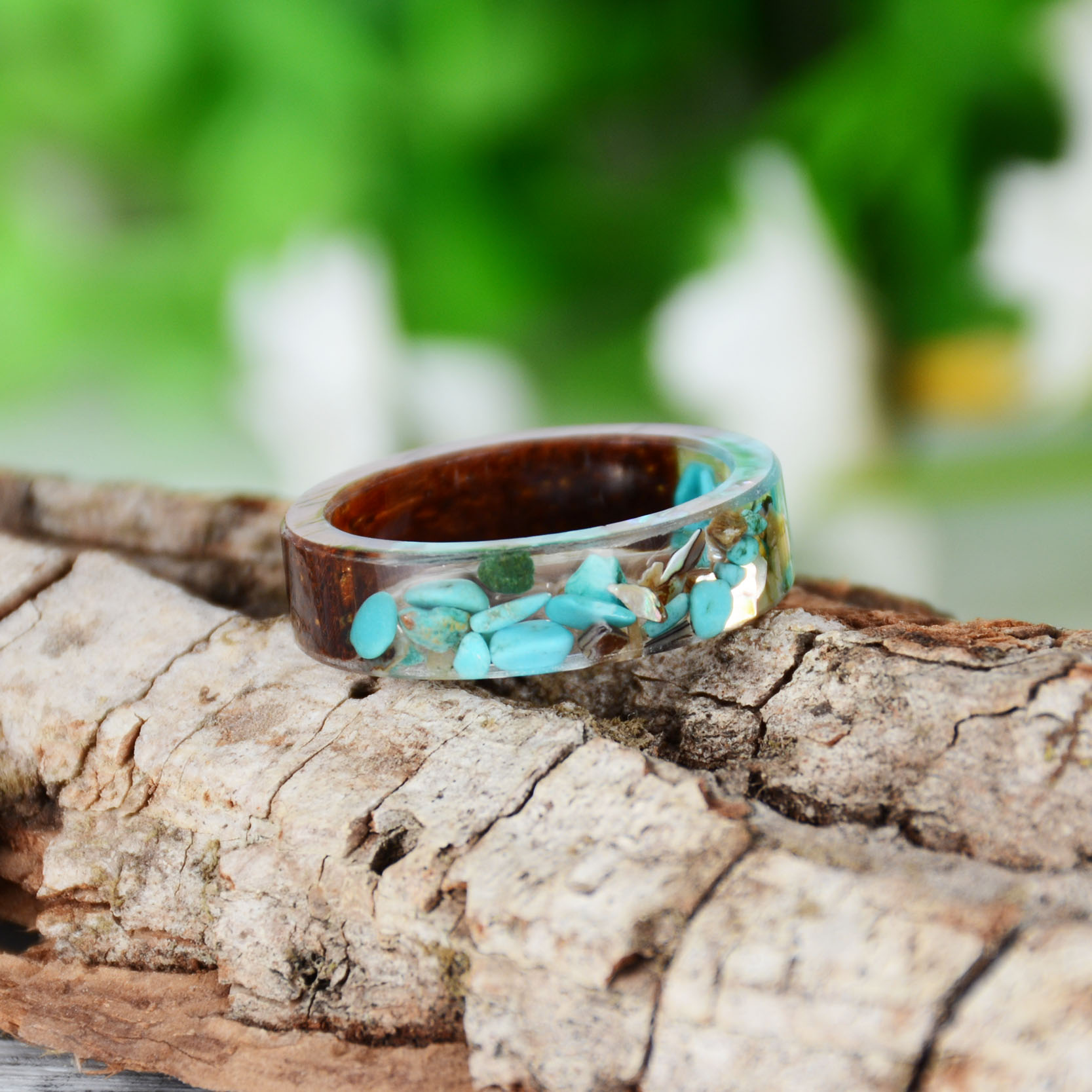 HTB16qOdB2iSBuNkSnhJq6zDcpXaN - Hot Sale Handmade Wood Resin Ring Dried Flowers Plants Inside Jewelry Resin Ring Transparent Anniversary Ring for Women