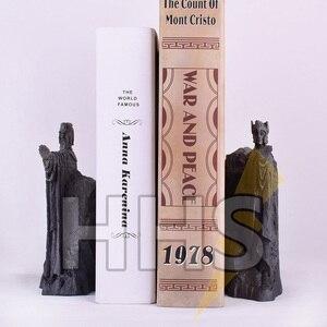 "Image 4 - 11*14 ס""מ שר הטבעות תומכי ספרים פעולה להבין שערים של פסל איור צעצועי Diecast Argonath גונדור מערבי אנימה מתנות"