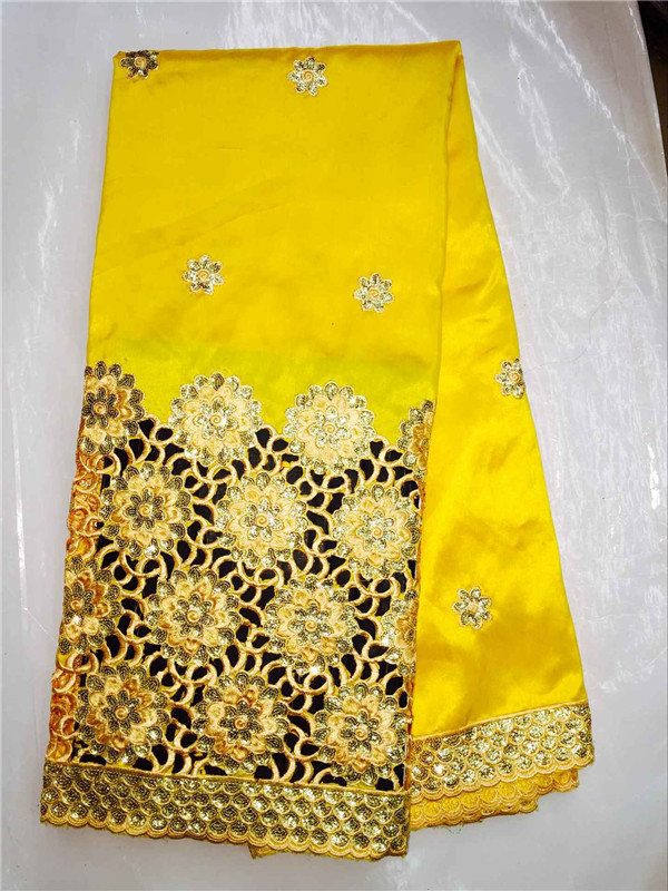 (5yards/pc)Luxury yellow african water soluble lace,George lace fabric with flower decoration for wedding dress IG5-8(5yards/pc)Luxury yellow african water soluble lace,George lace fabric with flower decoration for wedding dress IG5-8