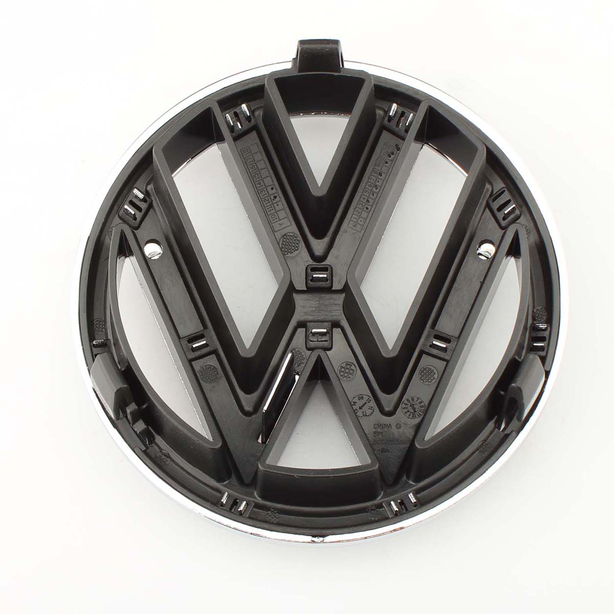 Car Auto 130mm VW Emblem Chrome OEM Front Grille Badge Sticker For Volkswagen Jetta MK6 Sedan 2011 2015 5C6 853 601 5C6853601ULM in Emblems from Automobiles Motorcycles