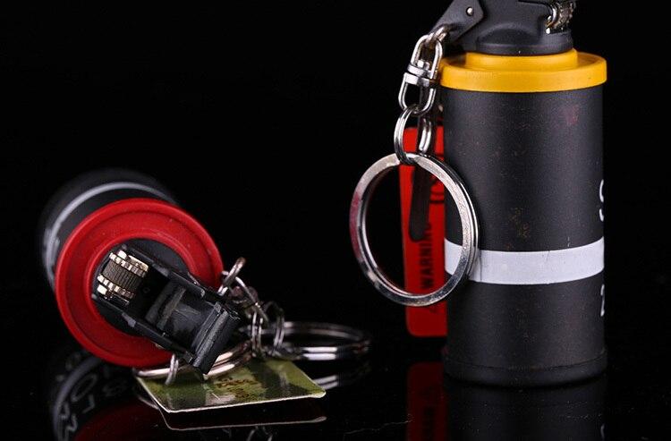 2015 Novelty Metal M18 Smoke Grenades Shaped Lighter Butane