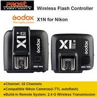 Godox X1N i TTL Wireless 2.4 G Flash Remote Trigger Transmitter + Receiver for Nikon E'OS series cameras (X1N KIT)
