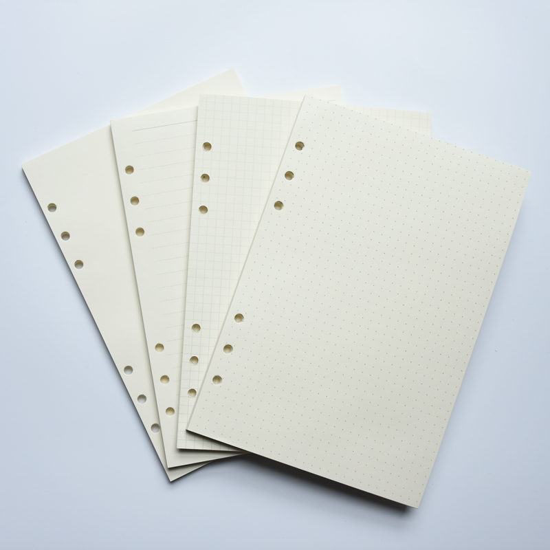 MaoTu Filler Paper Spiral Notebook Loose Leaf Paper Ring Binder Refills For Filofax Planner Bullet Journal A5 A6 6 Holes