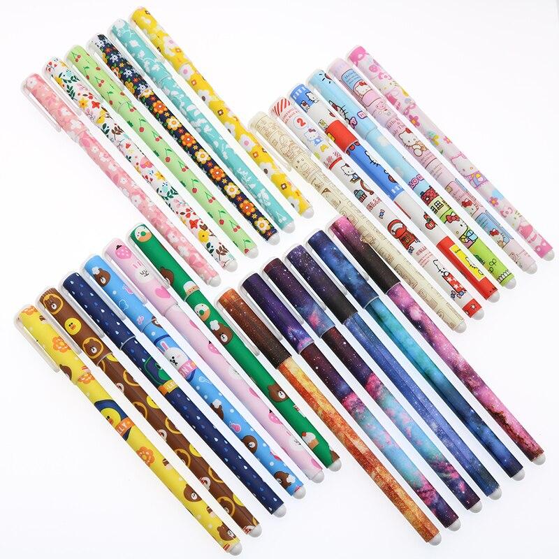 6 colores/conjunto de dibujos animados lindo Color pluma de Gel papelería creativa pluma 0,38mm de la Oficina de la escuela papelería Children'S papelería los premios