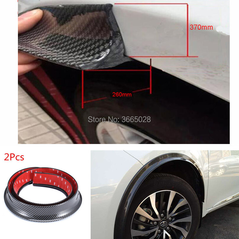 150CM*2 Car Fender Flares Arch Wheel Eyebrow Protector/mudguards Sticker Fit for KIA KX3 KX5 KX7 DIY Mudguards     - title=