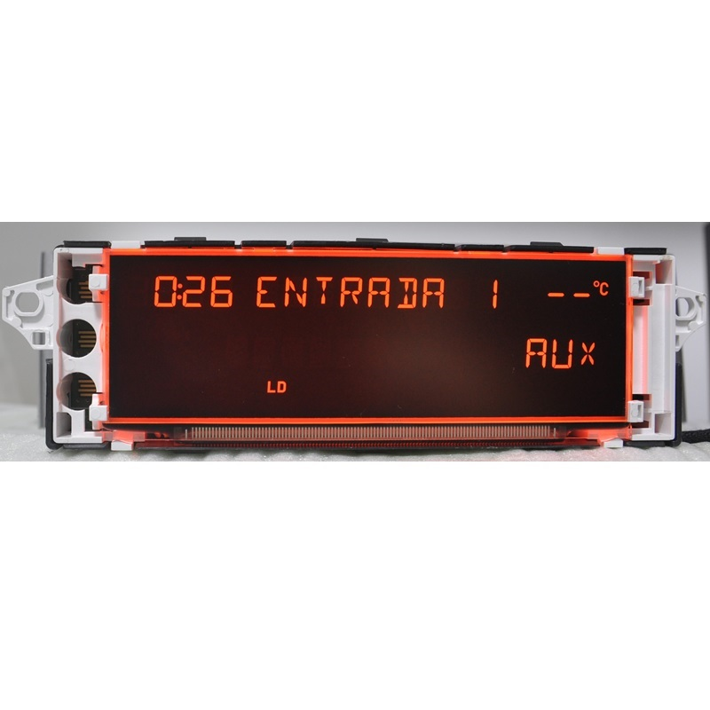 cheapest Car Screen Support USB AUX Display Red Monitor 12 pin Suitable 307 207 308 408 3008 C4 C5 Display