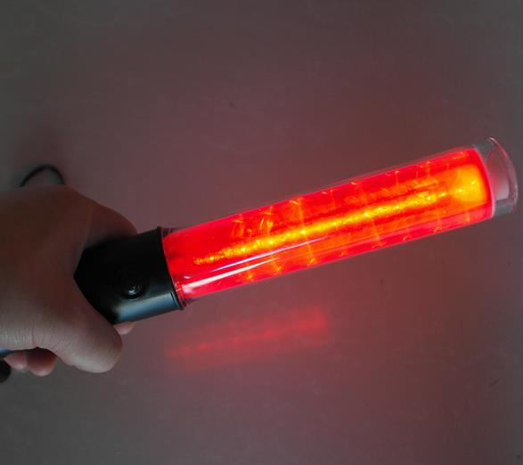 Outdoor Safety Many Functional LED Traffic Flashlight Baton 26cm Length Magnet At The Bottom