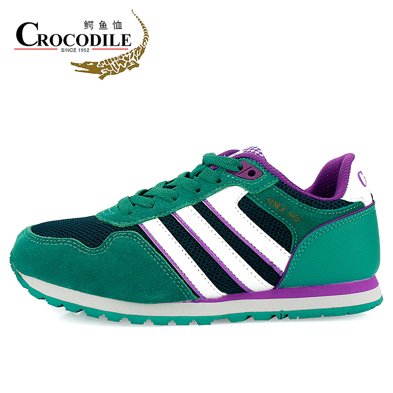 CROCODILE New Women Athletic Sneakers Ladies Walking Shoes Leather Running Jogging Sneakers Breathable Women Sport Shoes4125886