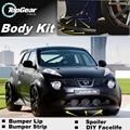 Deflector pára Lábio Lábios Para Nissan Juke Para Infiniti ESQ F15 Spoiler dianteiro Saia Para TopGear Amigos Tuning/Body Kit/tira