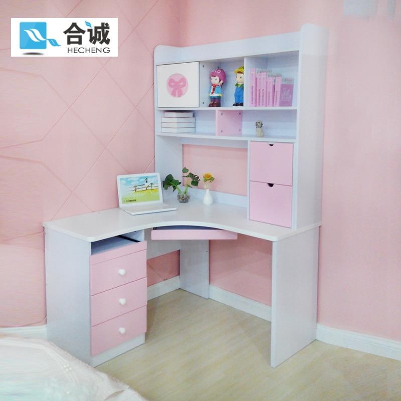 Kids Room Desk: Children's Corner Suite Hot Girl Princess Wood Computer