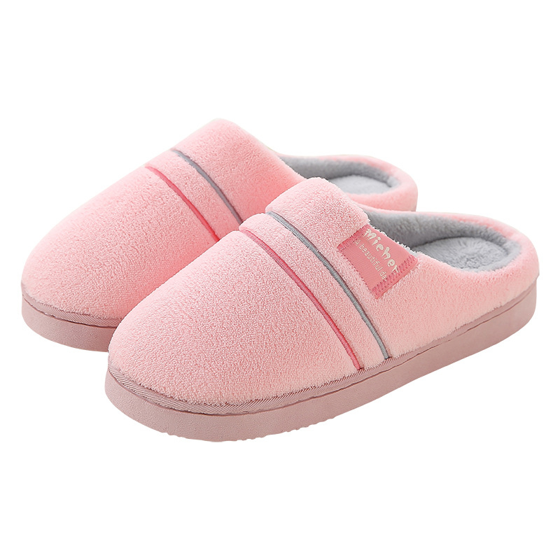WANXYASL Winter Women Home Slippers Fashion Warm Shoes Woman Slip on Flats Female Slides Black Pink Plus Size Slippers For Women 1159 fashion ice silk lace sleepshirts for women deep pink black free size