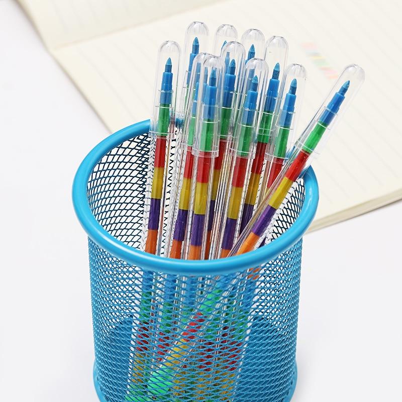 10 Colors Crayon DIY Replaceable Korean Creative Graffiti Pens Oil Pastel For Kids Painting Drawing Art School Office Supply