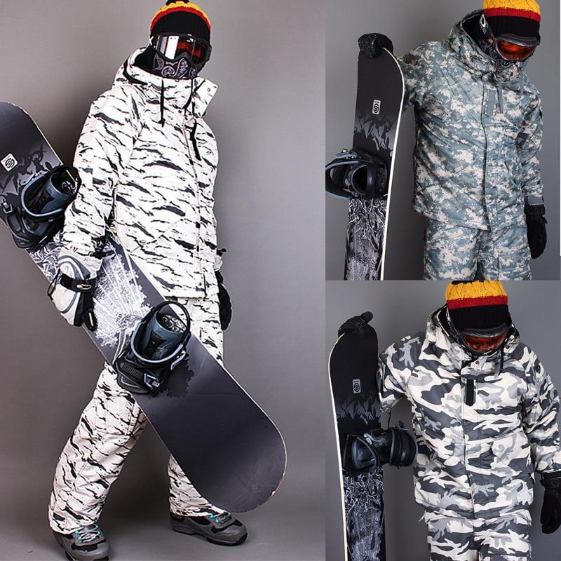 New Premium Edition Southplay Winter 10,000 mm Waterproof Ski Snowboard (Jacket + Pants)Camo Military Sets