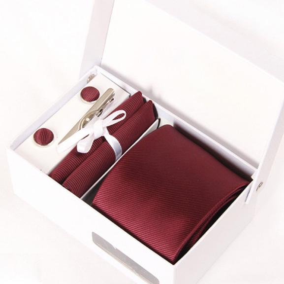 Досуг человек винный красный галстуки мужской свадебная галстук твердые gravatá деловых kravat гент свадебные запонки hanky шеи галстук набор