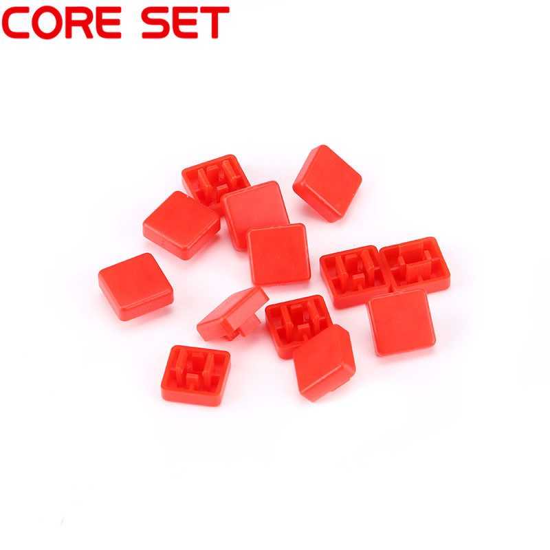 1000PCS square Tact Cap For 12*12*7.3 mm Tact Switches Tactile Button Caps 12x12x7.3 mm