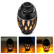 лучшая цена 96 LED Flame Atmosphere Lamp Speaker Table Lamp Portable Wireless Speaker with Superior Bass and Sound 2000mAh