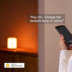 Image 2 - Xiaomi mijia lâmpada de cabeceira 2, lâmpada inteligente, luz noturna led, colorida, 400 lúmens, bluetooth, wi fi, controle por toque, para apple homekit siri
