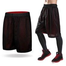 Двойные мужские черные баскетбольные шорты, быстросохнущие дышащие мужские спортивные шорты для бега