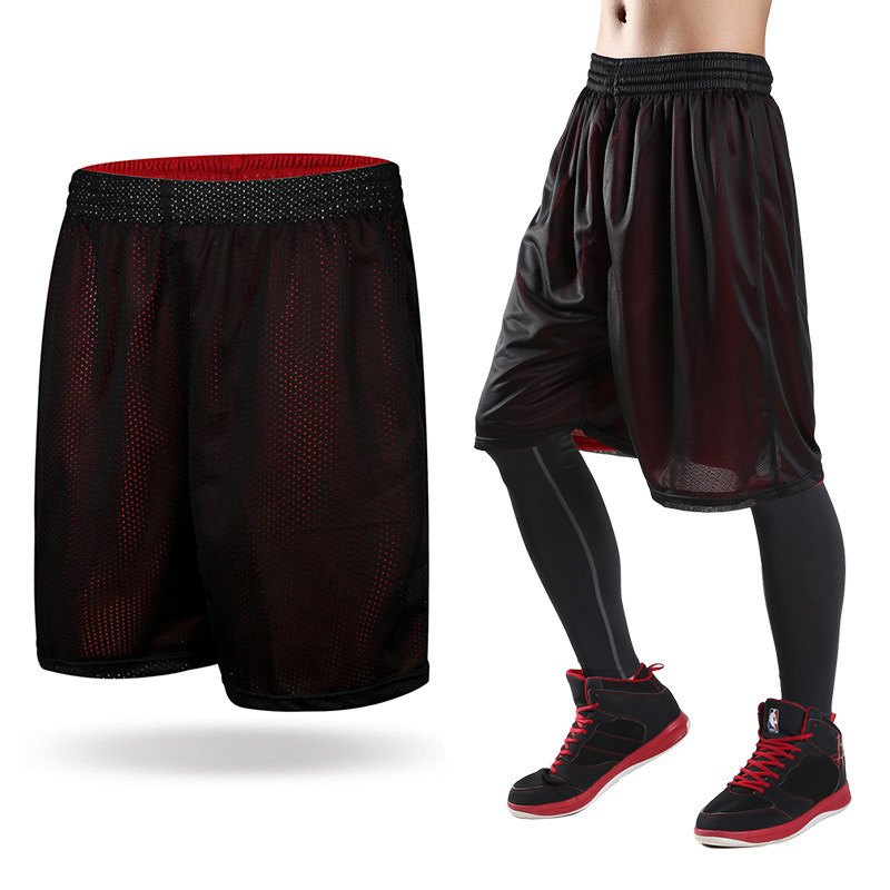 Double Wear Mens Black Basketball Shorts Quick Dry ...