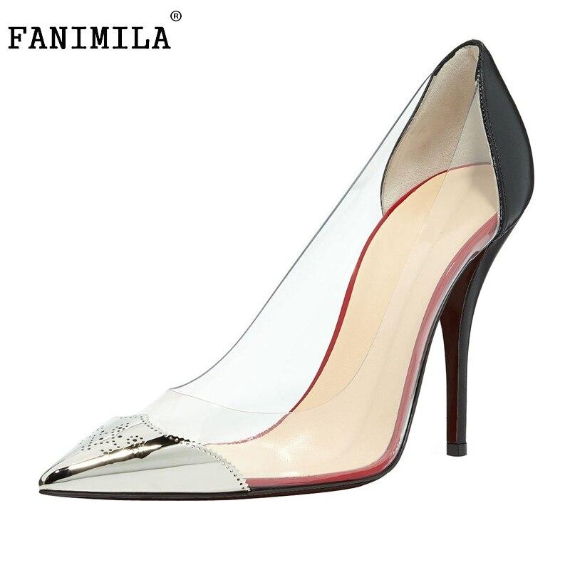 ФОТО Women High-quality Elegant Pumps Sexy Pointed Toe Thin Heels Stylish Pumps Concise Fashion Footwear Shoes Woman Size 35-46 B144