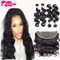 Peruvian Virgin Hair Body Wave With Frontal Closure Human Hair Rosa Hair Products Ear To Ear Lace Frontal Closure With Bundles