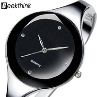 KIMIO Solid Stainless Jewelry Bangle Bracelet Women Ladies Woman Dress Wrist Watches