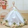 Alta calidad hecha a mano regalos para las niñas vestido de noche delgado vestido de novia traje ropa para barbie muñeca 1:6 bbi00537