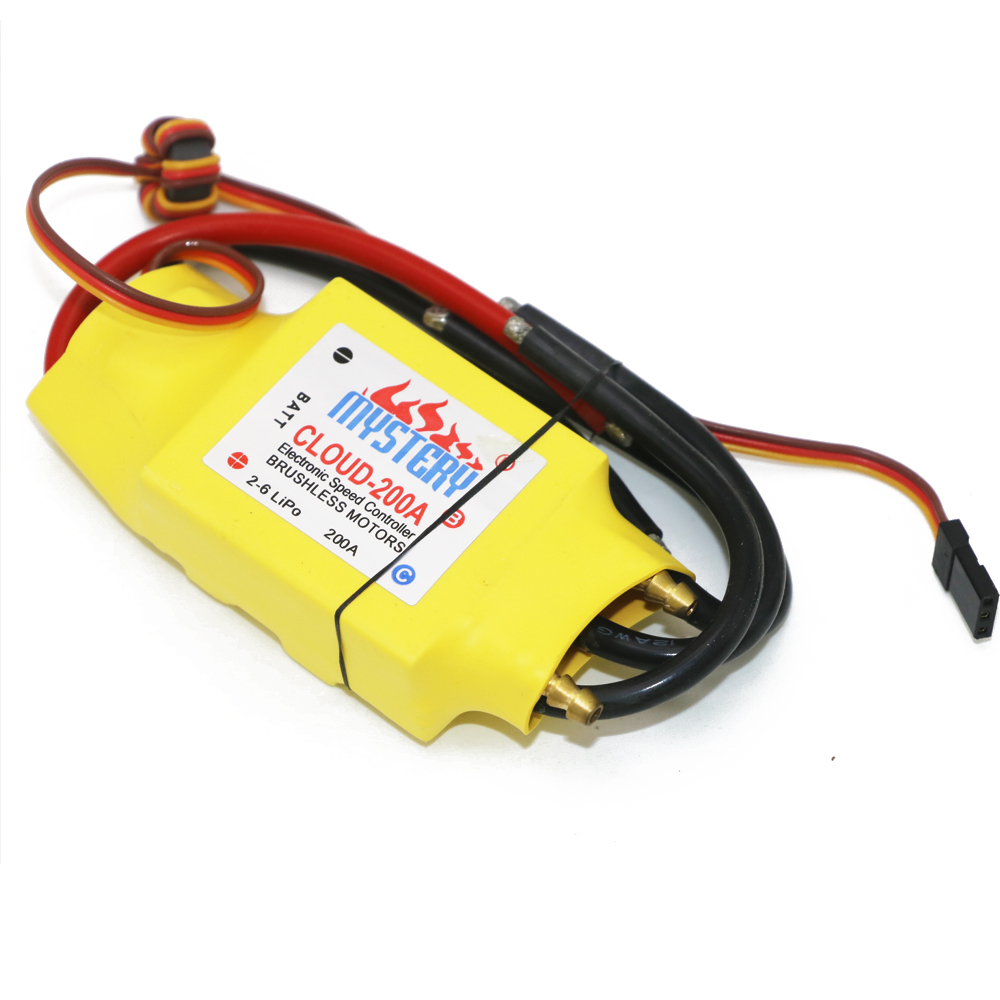 купить 1pcs 2-6S 30A/50A/80A/100A/200A ESC 5V/3A 5V/5A UBEC Brushless Speed Controller ESC For RC Boat UBEC 200A/S онлайн