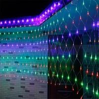 BEIAIDI 4.5x1.5m 300 LED Christmas Net Mesh Fairy String Light 8 Function Outdoor Wedding Window Net Icicle LED String Garland
