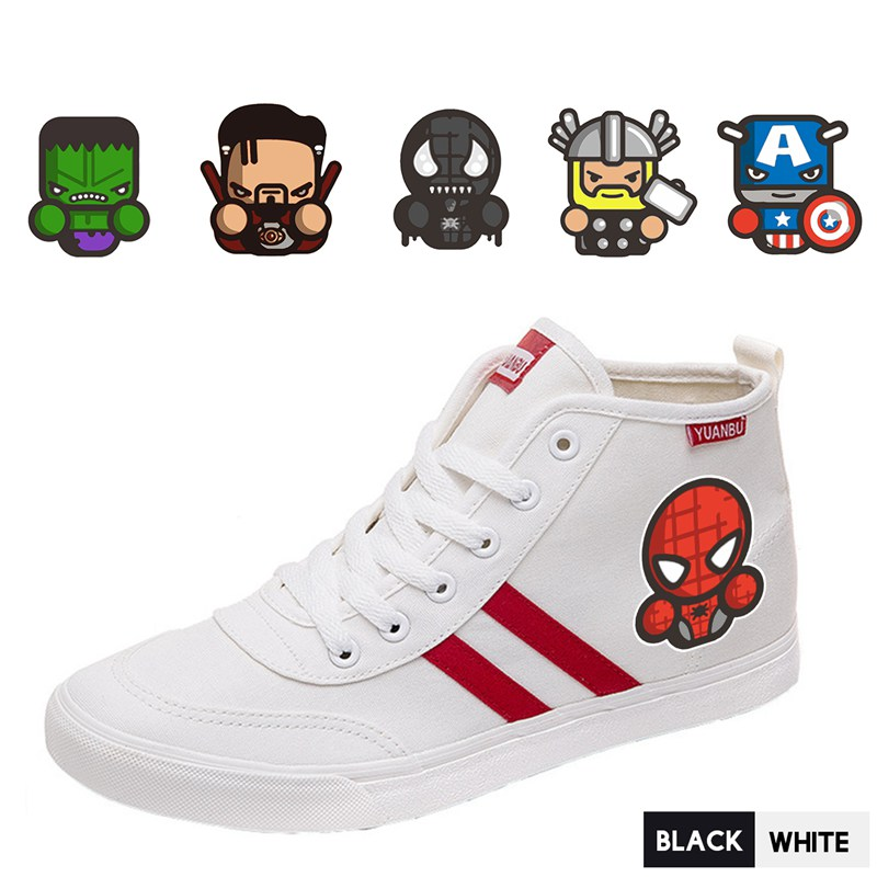 Men's Shoes Earnest Marvel Hero Spider-man/thor/captain America/hulk Printing Shoes High Heel Canvas Uppers Teen Personalise Trendy A193291 Goods Of Every Description Are Available Men's Vulcanize Shoes