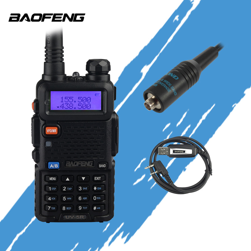 Baofeng UV5R Radio bidirectionnelle double bande UV5R Radio talkie-walkie CB Radio avec programmation USB et antenne RH-771