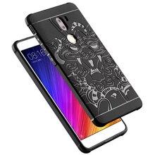 Роскошные Протектор 3D Резной Дракон Высокое Качество Мягкий Силиконовый Чехол Shell для Xiaomi Mi 5S Плюс Mi5s Плюс Чехол Коке Капа Funda