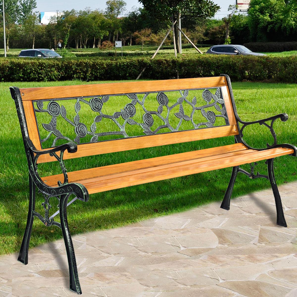 Giantex 49 1/2 Garden Furniture Classical Back Flowered Garden Bench Mental Patio Park Porch Chair OP2784 моторное масло motul garden 4t 10w 30 2 л