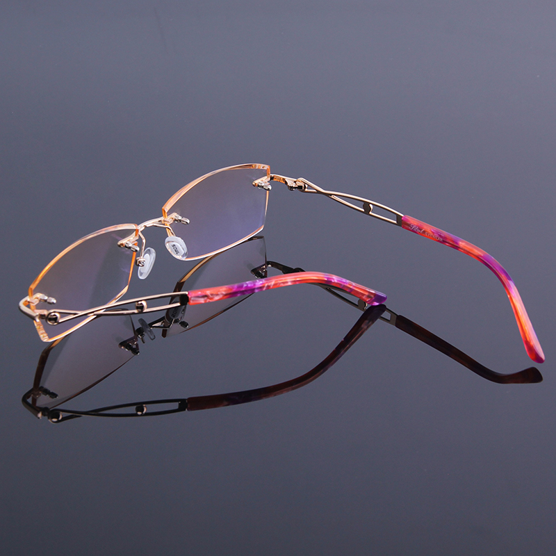 Reflektierende In Für Nähe Leser Der Sehen Brillen Von Frauen Neue Anti Lesebrille Randlose Rahmen Presbyopie Strass Legierung vgwqZOXp
