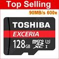 90 mb/s 600x cartão micro sd 16 gb 32 gb classe micro sdhc microsdhc 10 64 GB 128 GB microSDXC Micro SDXC C10 U1 cartão TF Cartão de Memória leitor