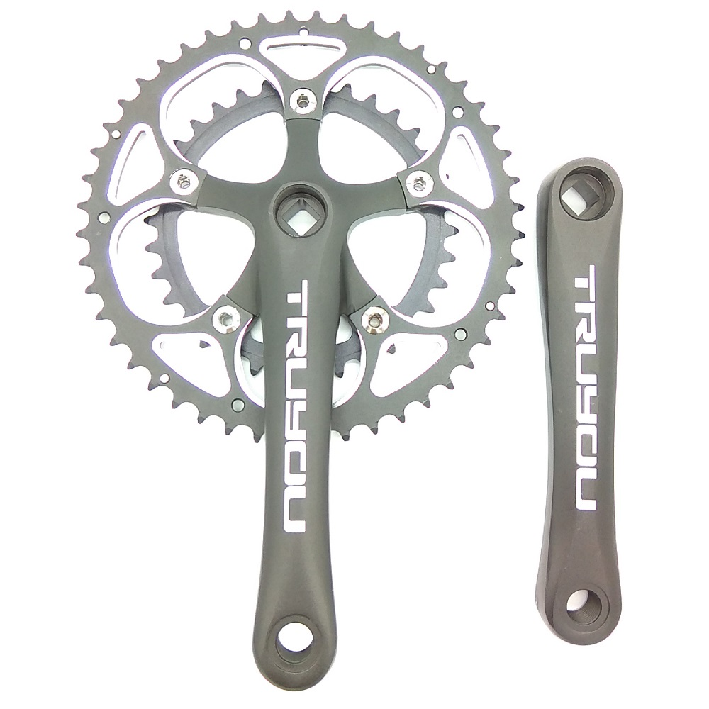 TRUYOU Road Bicycle Chainwheel 48/34T Crankset BCD 110MM Folding Bike Chainring Gear Fixed Double Gear Disc Crank Set 5-9 Speed rockbros titanium ti pedal spindle axle quick release for brompton folding bike bicycle bike parts