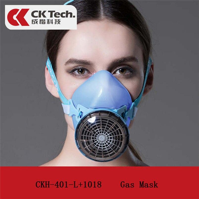 CK Tech. Силиконовая полулицевая противогаз респиратор краска спрей Химические органические газы фильтр маски Промышленная защитная маска