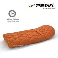 N6 PEDA Cafe racer BRAT seat 50cm BROWN for HONDA YAMAHA universal Motorcycle Vintage Saddle Asiento Sitz Sattel RHOMBUS DIA