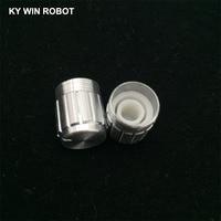 potentiometer knob 10pcs 15*17mm aluminum alloy potentiometer 15*17 knob rotation switch volume control knob white (3)