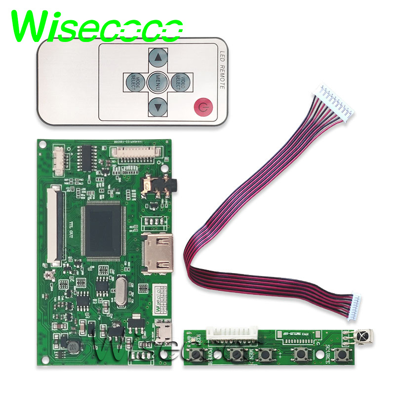 7 inch LCD TTL LVDS Controller Board HDMI VGA 2AV 50 PIN ONLY fit for AT070TN90 92 94 Support Automatically Raspberry Pi in Tablet LCDs Panels from Computer Office