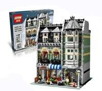 Lepin 15008 2462Pcs The Legoing City Street Green Grocer Model Building Kits Blocks Bricks Compatible Educational