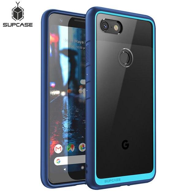 Pour étui Google Pixel 3a (libération 2019) SUPCASE Style UB pochette de protection en polyuréthane thermoplastique de protection hybride Premium anti chocs + couverture arrière PC transparente