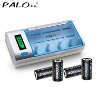 PALO Multi Function LCd Display Battery Charger AA AAA SC C D Battery Charger With 4