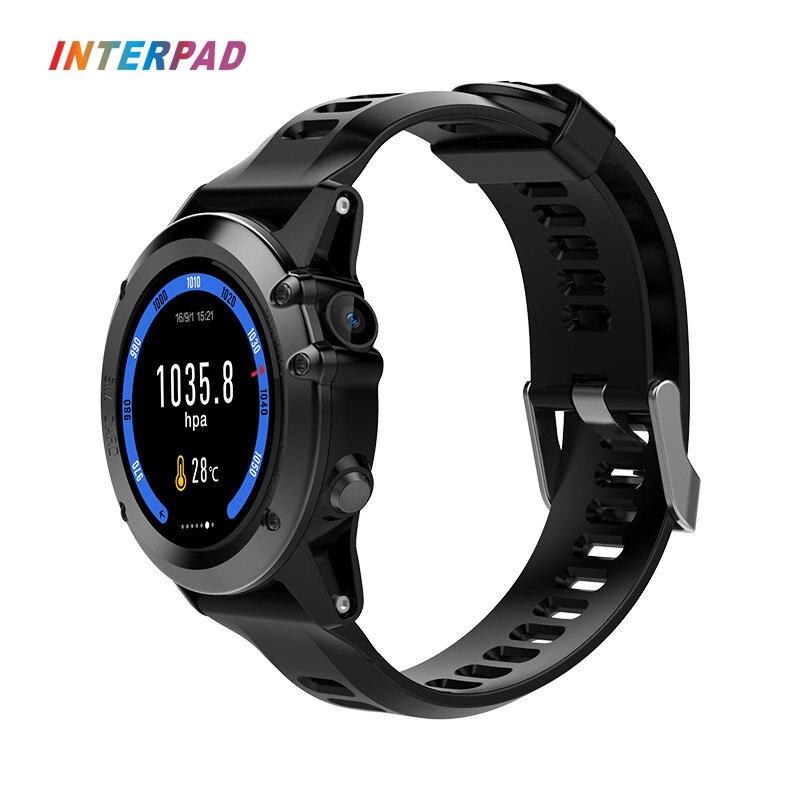 Новый interpad i h1 3G GPS WI FI Смарт часы MTK6572 Камера Компасы трекер сна SmartWatch Поддержка скачать приложения для iOS и Android