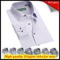 Бесплатная доставка Европейский размер Hombres де camisa Длинным рукавом 38-44 пледы рубашка 2014 QR-1364