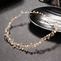 New Style Leaf Crystal Bridal Hair Decor Imitation Gemstone Hair Jewelry Tiara Wedding Hair Accessories Wholesale For Bridesmaid