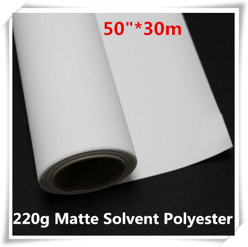 50in Eco Solvent Polyester Canvas 220g For Inkjet Printing Promote The Production Of Body Fluid And Saliva