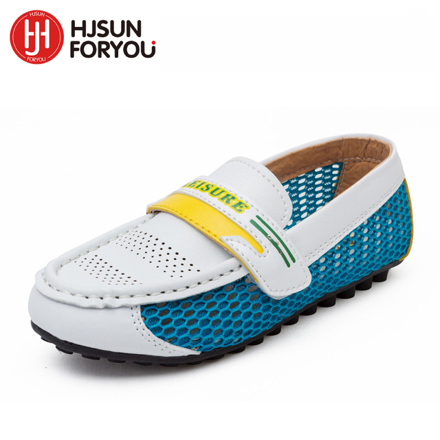 Mocasines transpirable, zapatos de cuero niños y niñas, zapatos casuales individuales.