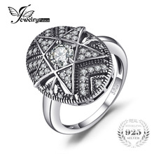 Jewelrypalace Star 1.0ct кубического циркония кольцо филигрань 925 стерлингов Серебряные кольца для Для женщин Модные украшения подарок для мамы