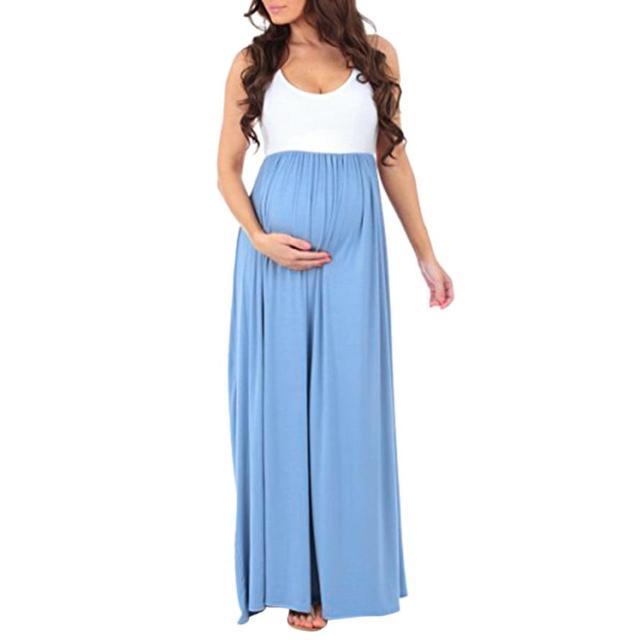 1233c844853 FEITONG Women s Sleeveless Pregnant Curta Maxi Maternity Dress Mother  Floral Sundress Longos Feminino Plus Size L-XL Vestidos